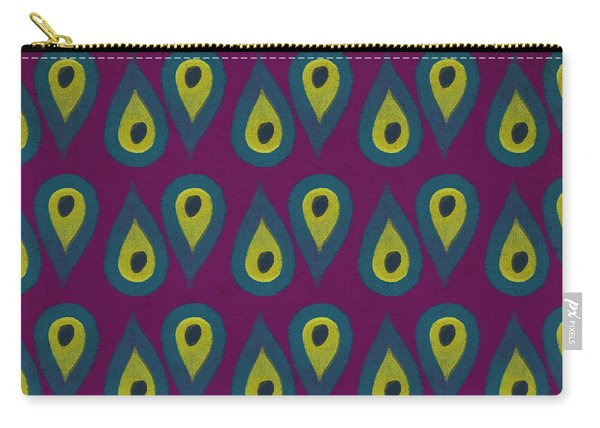 Purple Peackock Print  Carry-all Pouch