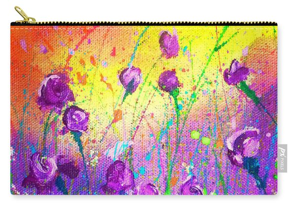 Purple Posies Carry-all Pouch