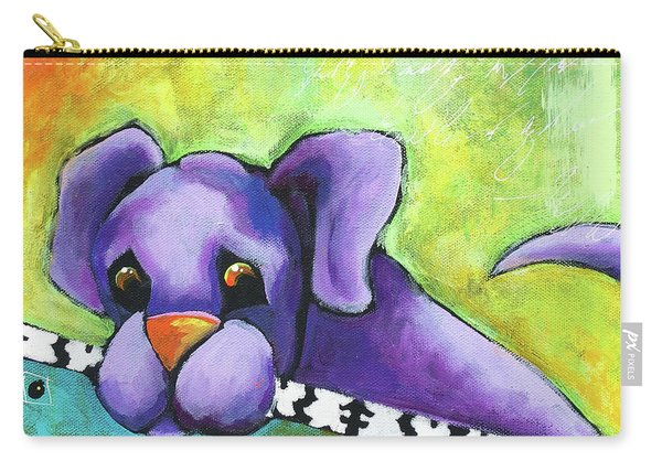 Purple Pup Carry-all Pouch