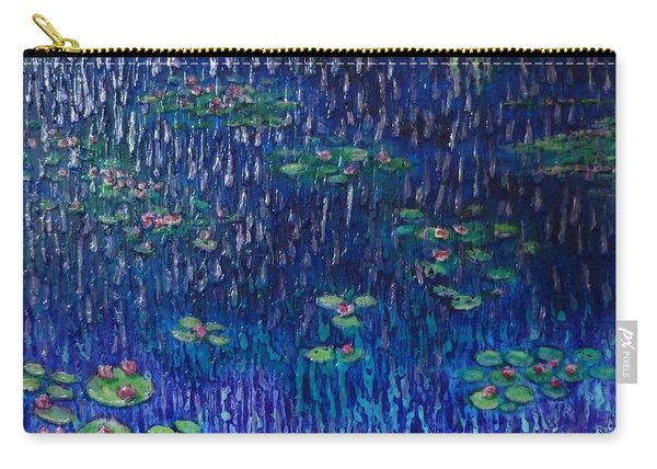 Purple Rain On Water Lilies Carry-all Pouch