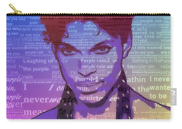 Purple Rain Typography Carry-all Pouch