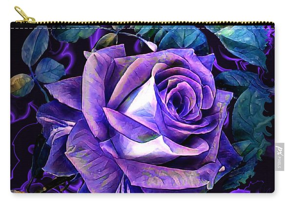 Purple Rose Bud Painting Carry-all Pouch