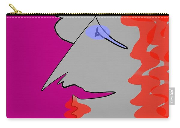 Purple Stache Carry-all Pouch
