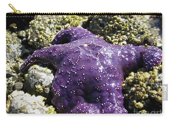 Purple Star Fish Carry-all Pouch