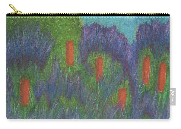 Purple Strife And Cattails Carry-all Pouch