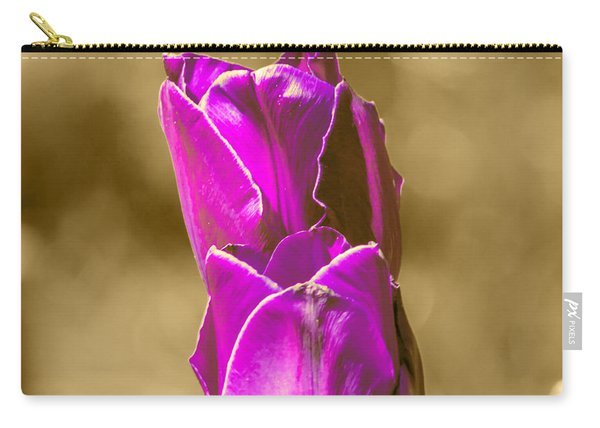 Purple Tulips Sepia Background Carry-all Pouch