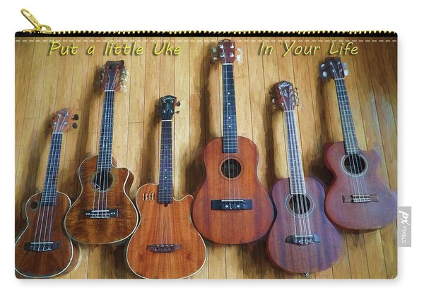 Put A Little Uke In Your Life Carry-all Pouch