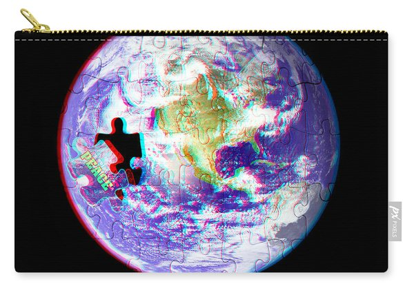 Puzzling - 3d Stereo Anaglyph Carry-all Pouch