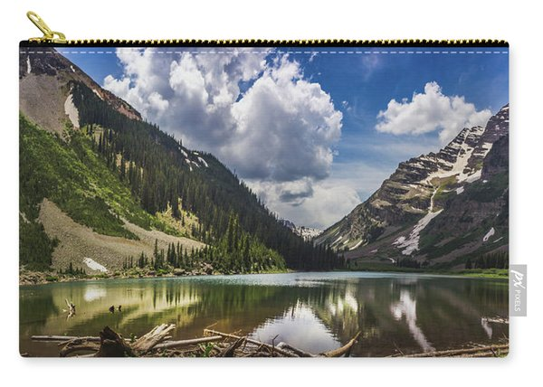 Pyramid Peak, Maroon Bells, And Crater Lake Panorama Carry-all Pouch