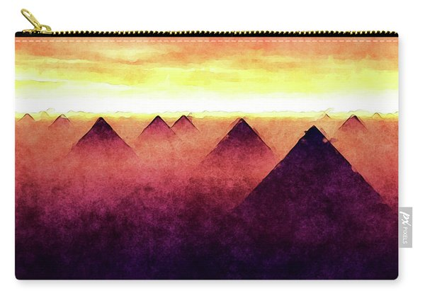 Pyramids At Sunrise Carry-all Pouch