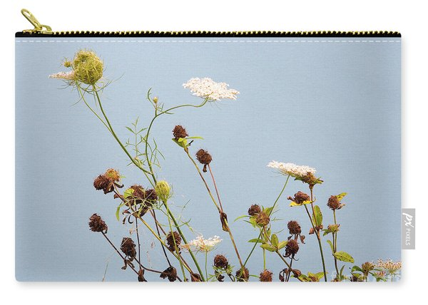 Queen Anne's Lace And Dried Clovers Carry-all Pouch