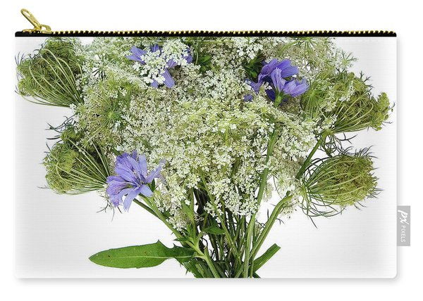 Queen Anne's Lace With Purple Flowers Carry-all Pouch