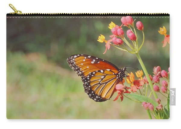 Queen Butterfly On Milkweed Carry-all Pouch
