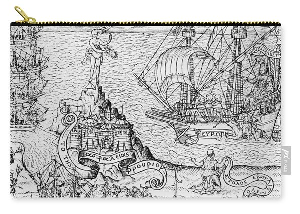 Queen Elizabeth I On Board A Ship Carry-all Pouch