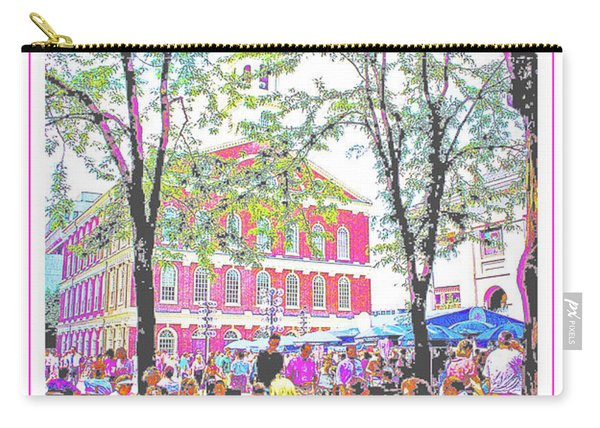 Quincy Market, Boston Massachusetts, Poster Image Carry-all Pouch