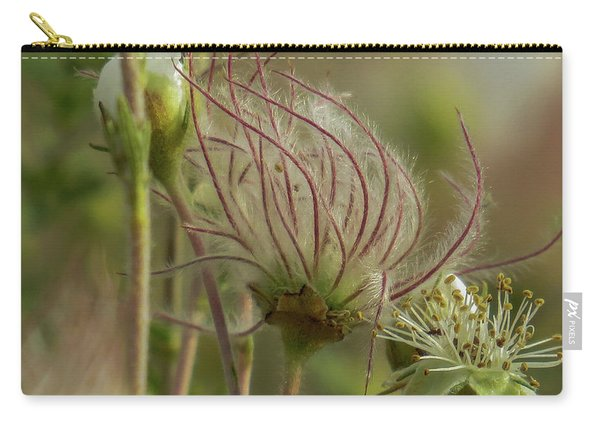 Quirky Red Squiggly Flower 2 Carry-all Pouch