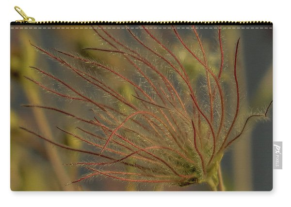 Quirky Red Squiggly Flower 4 Carry-all Pouch