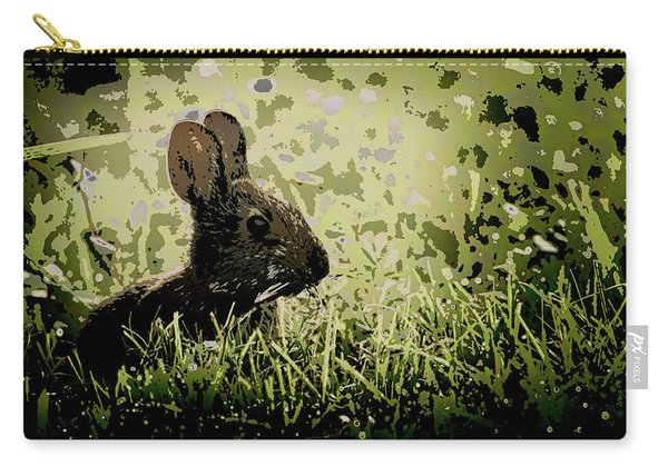 Rabbit In Meadow Carry-all Pouch