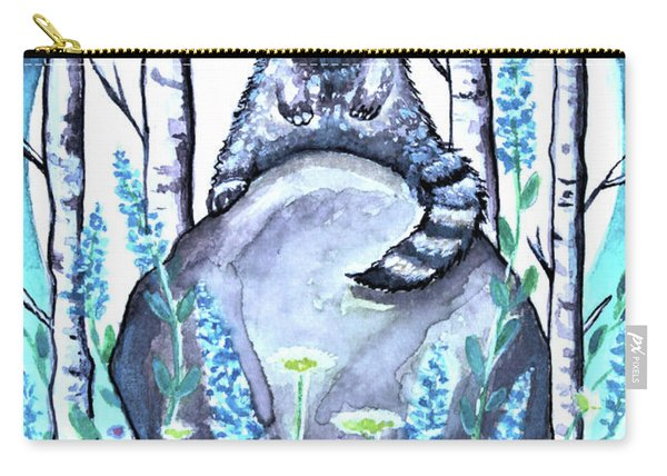Raccoon Under The Moonlight Carry-all Pouch