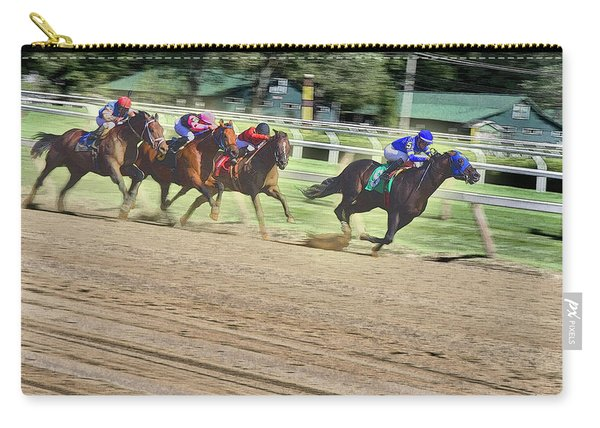 Race Horses In Motion Carry-all Pouch