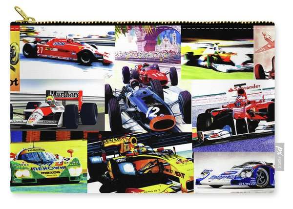 Racing Collage Carry-all Pouch