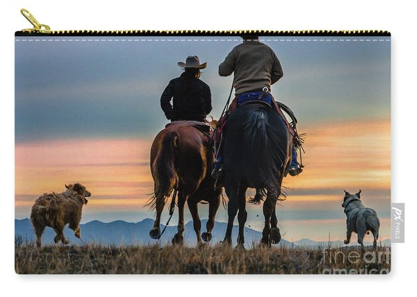 Racing To The Sun Wild West Photography Art By Kaylyn Franks Carry-all Pouch