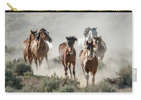 Racing To The Water Hole Carry-all Pouch