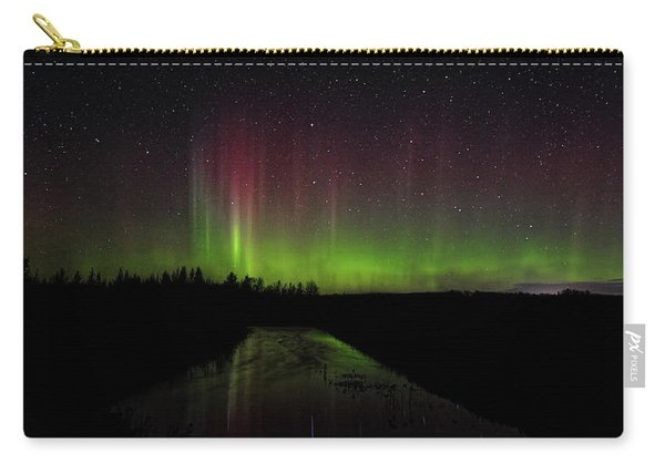 Red And Green Aurora Pillars Carry-all Pouch