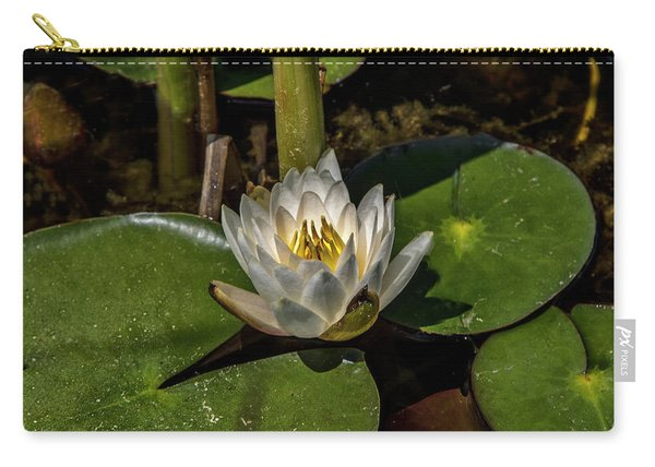 Radiant White Pond Lily  Carry-all Pouch