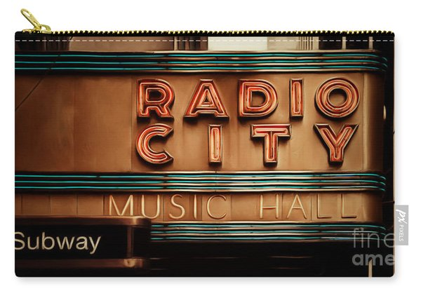 Radio City Music Hall Rockefeller Center Midtown Manhatten New York City Painterly 20170917 Long Carry-all Pouch