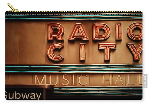 Radio City Music Hall Rockefeller Center Midtown Manhatten New York City Painterly 20170917 Square Carry-all Pouch