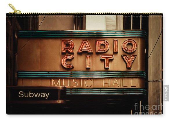 Radio City Music Hall Rockefeller Center Midtown Manhatten New York City Painterly 20170917 Carry-all Pouch