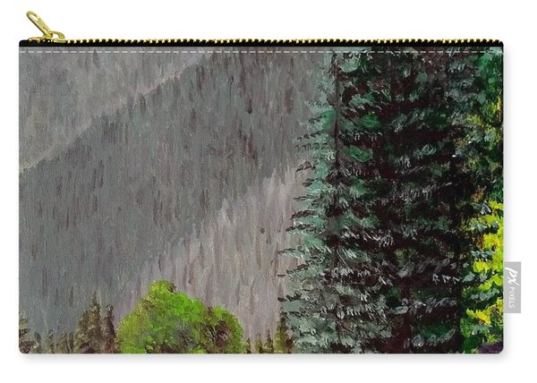 Carry-all Pouch featuring the painting Rafting The Gallatin by Kevin Daly