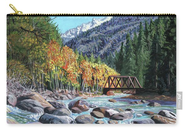 Rail Bridge At Cascade Carry-all Pouch