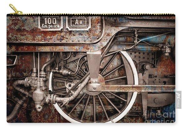 Rail Wheel Grunge Detail,  Steam Locomotive 06 Carry-all Pouch