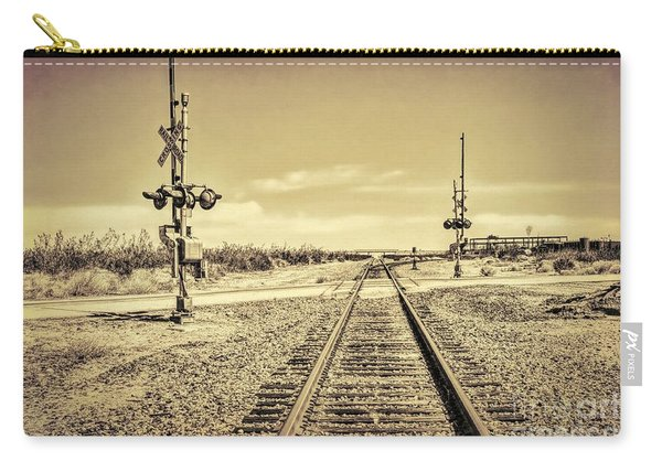 Railroad Crossing Textured Carry-all Pouch