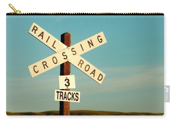 Railroad Crossing Carry-all Pouch