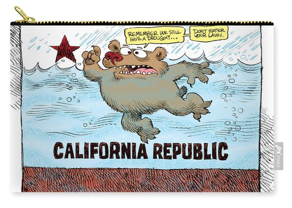 Rain And Drought In California Carry-all Pouch