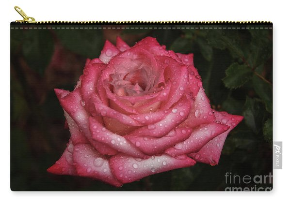 Rain Drop Rose Carry-all Pouch