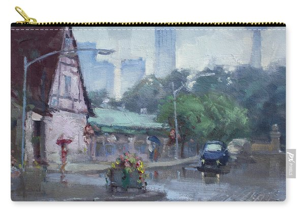 Rain In Old Falls Street Carry-all Pouch