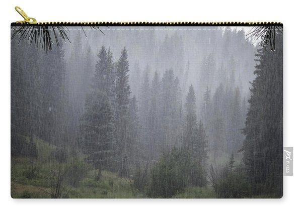 Carry-all Pouch featuring the photograph Rain Lovely Rain by Mary Lee Dereske