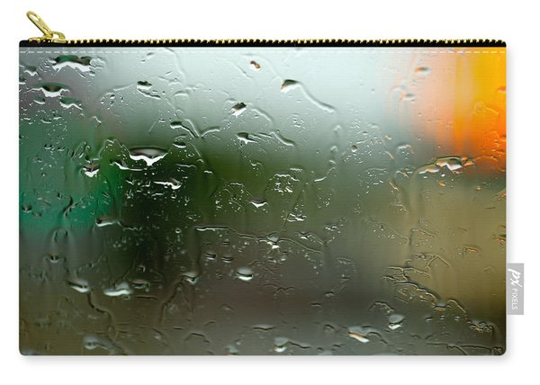 Rain Soaked Glass Window Carry-all Pouch