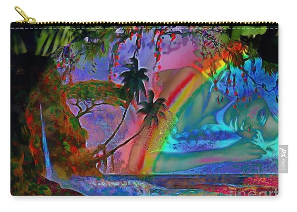 Rainboow Drenched In Layers Carry-all Pouch
