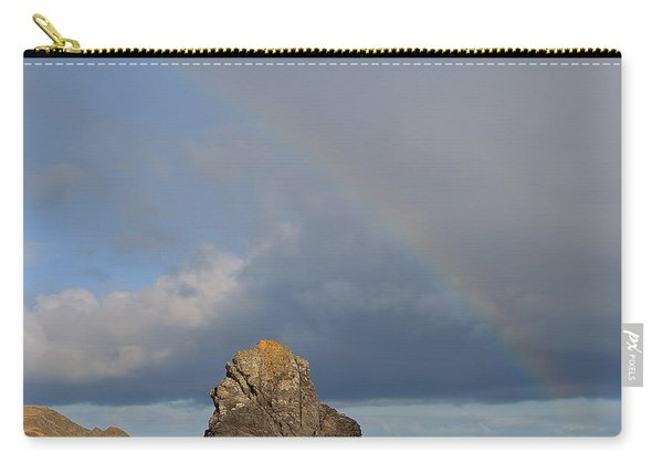 Rainbow Above Sango Bay Sea Stack Carry-all Pouch