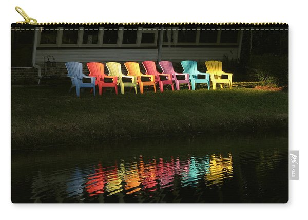 Rainbow Chairs  Carry-all Pouch