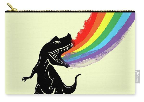 Rainbow Dinosaur Carry-all Pouch
