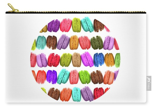 Rainbow French Macarons Carry-all Pouch