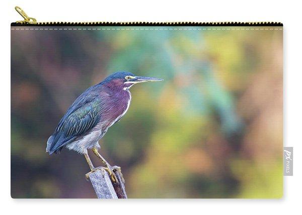 Rainbow Heron Carry-all Pouch