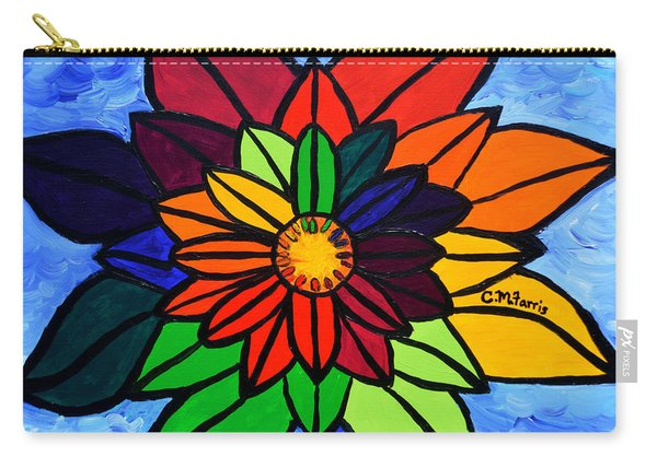 Rainbow Lotus Flower Carry-all Pouch