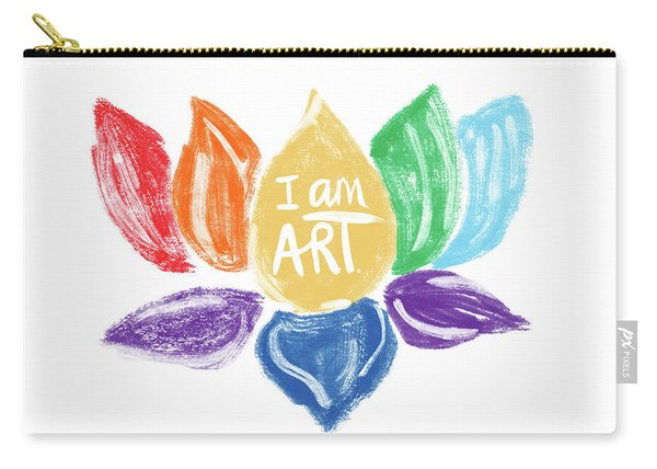 Rainbow Lotus I Am Art- Art By Linda Woods Carry-all Pouch